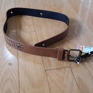 New! Deb Brown Belt with Embellishments